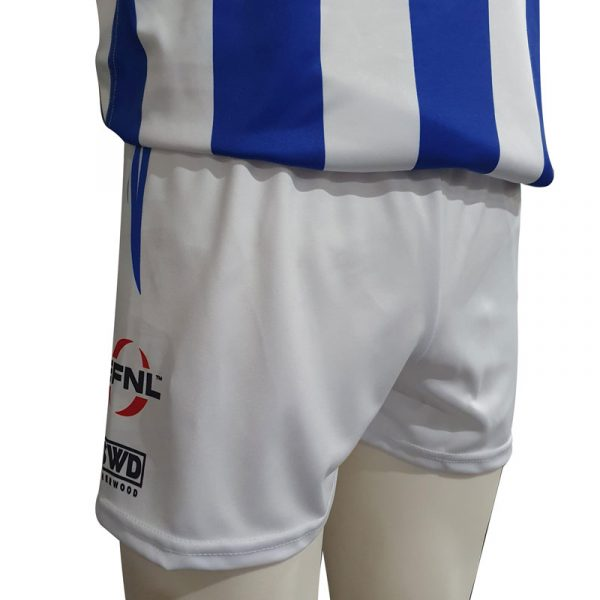 white playing shorts hoodies ferntree gully football netball club